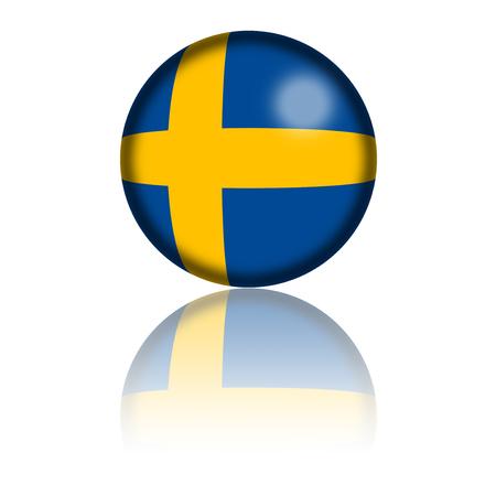 bandera de suecia: Bandera de Suecia Esfera 3D Rendering