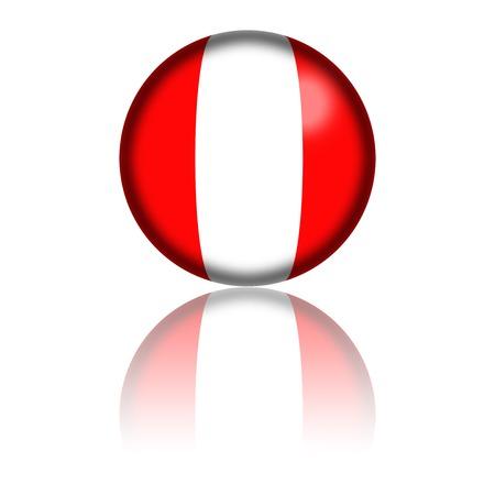bandera de peru: Perú Bandera de la esfera de representación 3D
