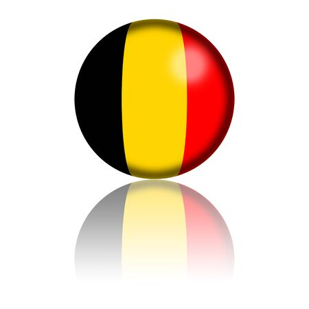belgium flag: Belgium Flag Sphere 3D Rendering