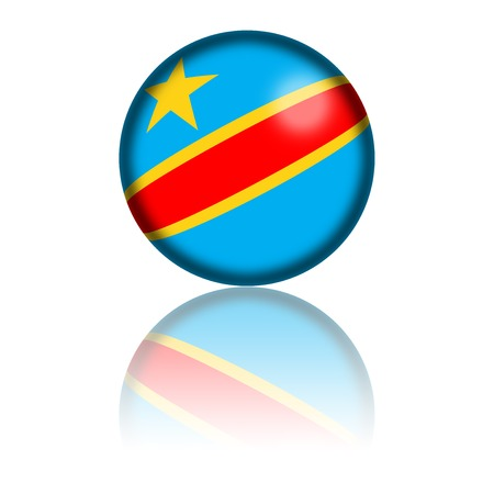 democratic: Democratic Republic of the Congo Flag Sphere 3D Rendering