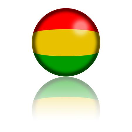 bandera de bolivia: Bolivia Esfera del indicador de representaci�n 3D