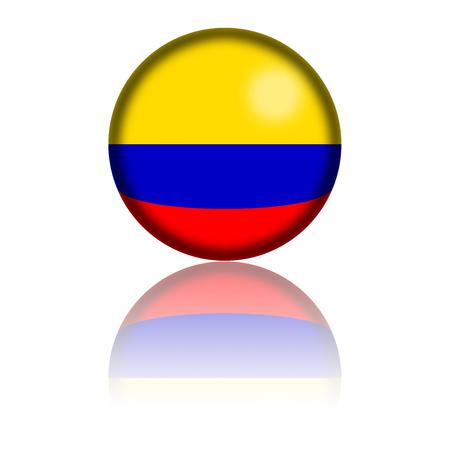bandera de colombia: Colombia Bandera de la esfera de representaci�n 3D