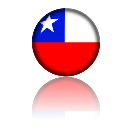 chile: Chile Flag Sphere 3D Rendering