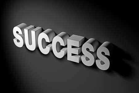 success concept: Success Concept in 3D Rendering Text