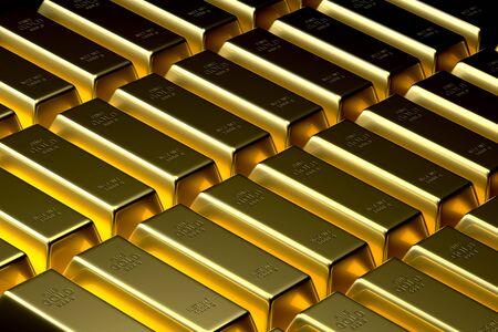 金の地金バーの背景