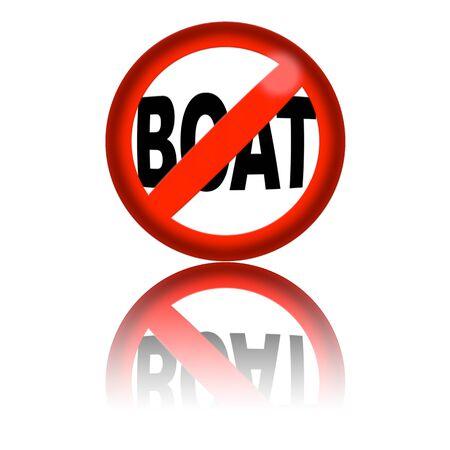3d boat: No Sign Boat 3D Rendering