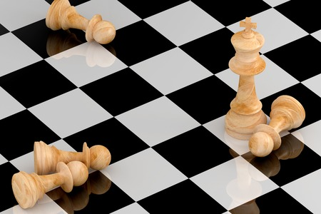 exceptional: Achievement Concept in Business, Chess 3D Rendering Stock Photo