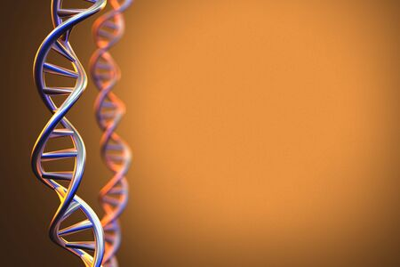 genomes: Human DNA Structure Background, 3D Rendering Stock Photo