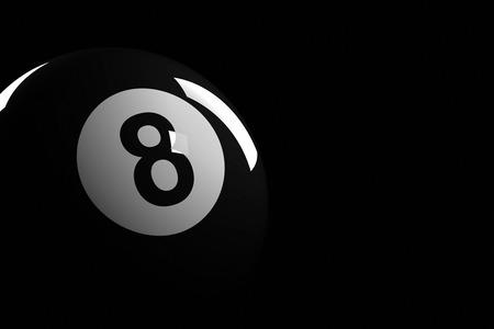プールのボール数 8、3 D レンダリング