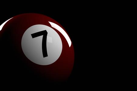 bola de billar: Bola de piscina número 7, de la representación 3D