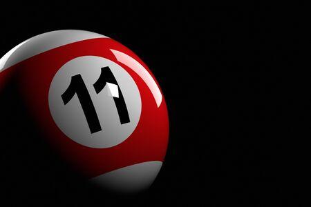pool bola: Bola de piscina número 11, de la representación 3D