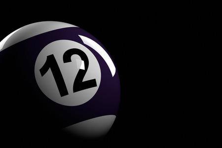 bola de billar: Bola de piscina número 12, de la representación 3D