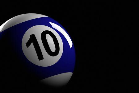 bola de billar: La bola de piscina del número 10, de la representación 3D Foto de archivo