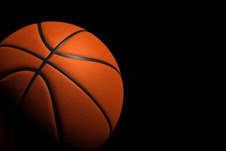 3d ball: Basketball Ball on Black Background, 3D Rendering