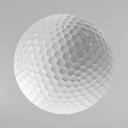3d ball: Golf Ball Isolated on White, 3D Rendering