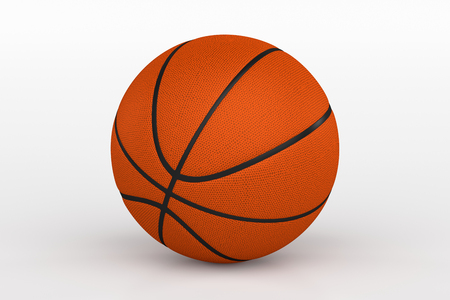 3d ball: Basketball Ball Isolated on White, 3D Rendering Stock Photo