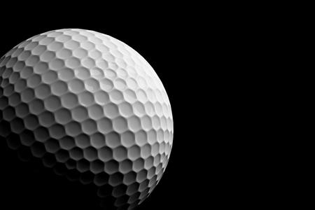 3d ball: Golf Ball on Black Background, 3D Rendering