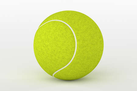 3d ball: Tennis Ball Isolated on White, 3D Rendering