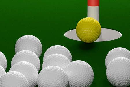 rendering: Leadership Concept, 3D Rendering