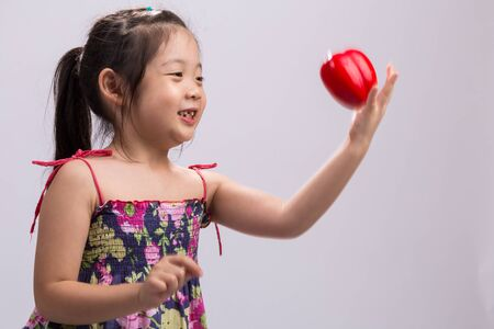 Child with Bell Pepper, Isolated