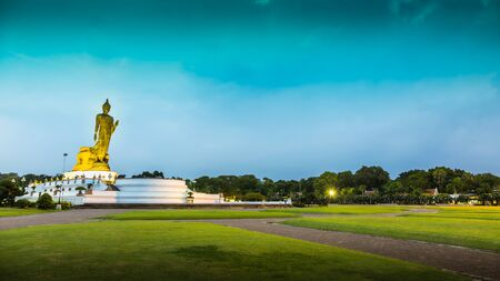hdr: Buddha Statue at Sunrise or Sunset, HDR