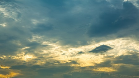 hdr background: Sky with Clouds at Sunset or Sunrise Background, HDR