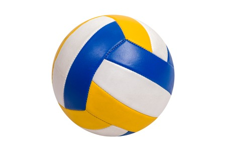 Volleyball Ball Isolated on White Background Foto de archivo