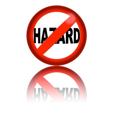 hazard sign: No Hazard Sign 3D Rendering