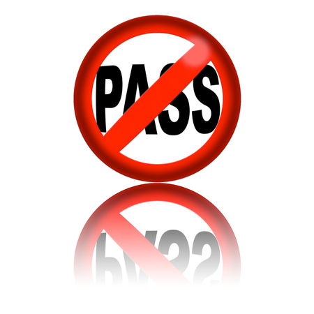 no pase: No Pass Sign 3D Rendering