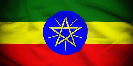 ethiopia flag: Ethiopia Flag Stock Photo
