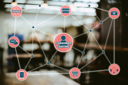 Consumer Centric Marketing Concept. Omni Channel Retailing Concept.