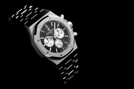 Bangkok, Thailand – March 8, 2018: Audemars Piguet, AP, Royal Oak Watch. Audemars Piguet is one of the world most renounced luxury watch brand. Stok Fotoğraf - 111541649