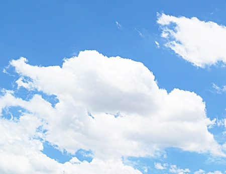 elysium: blue sky and cloud Stock Photo