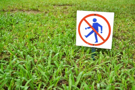 Don t walk on the grass photo