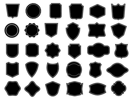 Set of vintage frames for badges Çizim