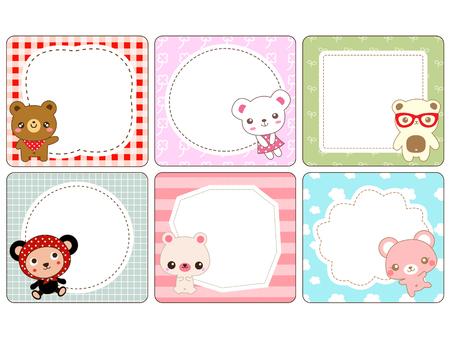 cute bear: Cute bear card