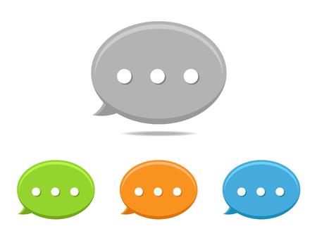 Round speech bubbles icon