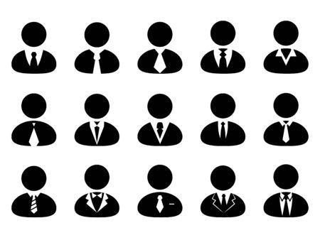 Businessman icon set