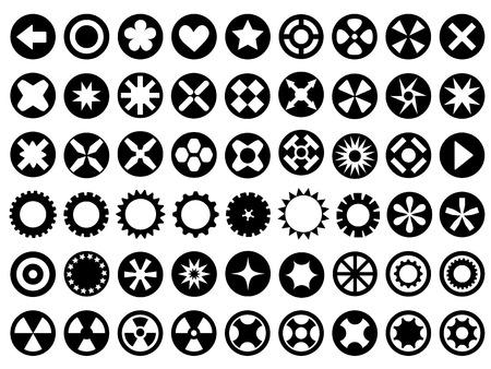 Set of circle icons