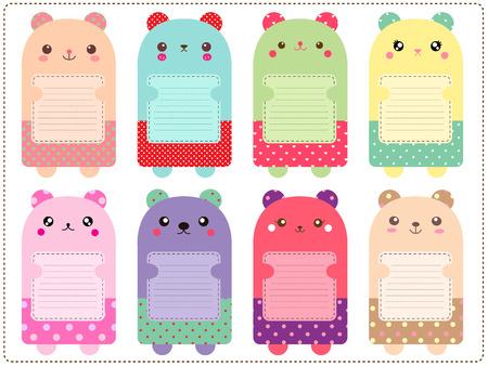 Cute bears note set