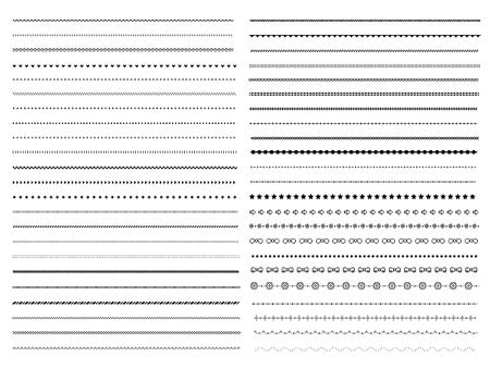 Set of pixel dividers design elements