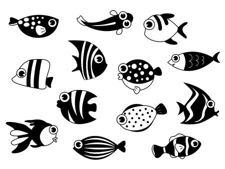 Set of fishes Çizim