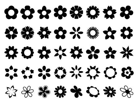 Set of flowers Çizim