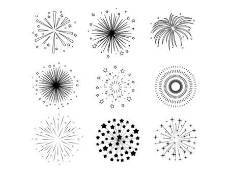 Black fireworks Çizim