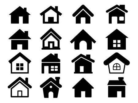 Houses icons set, Home icons Çizim