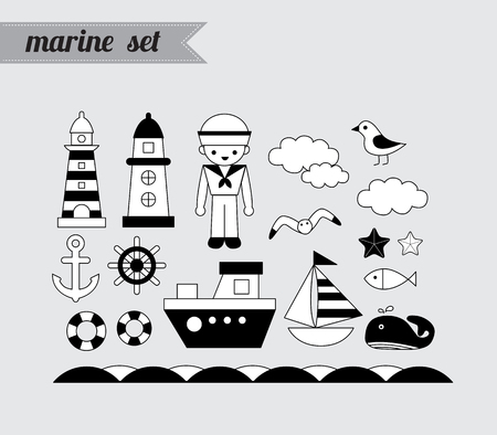 Marine set Çizim
