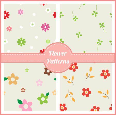 Cute flower patterns