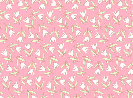 Seamless pattern with cute flowers Çizim