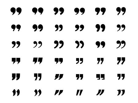 Set of quotation marks