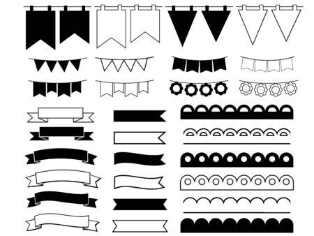Set of ribbons Çizim